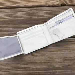 White Wallet Supreme Leather Bifold Card Holder